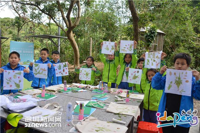 """手抄报里,以表达对生态大鹏家园的热爱,活动在大鹏非遗文化村以一场"""""""